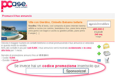 Affrettati: Una sponsorizzazione annuncio GRATUITA!